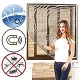 ODT Magnet Kunststoff-Rahmen Fliegengitter Fenster Insektenschutz Mückengitter Neu (110×130, Grau)