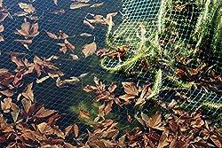 12m, gr/ün 8m breit Vielseitiges Teichnetz gr/ün 17mm x 17mm Masche I Aquagart Laubschutznetz Teich Abdecknetz Vogelschutznetz Laubnetz Teichabdeckung