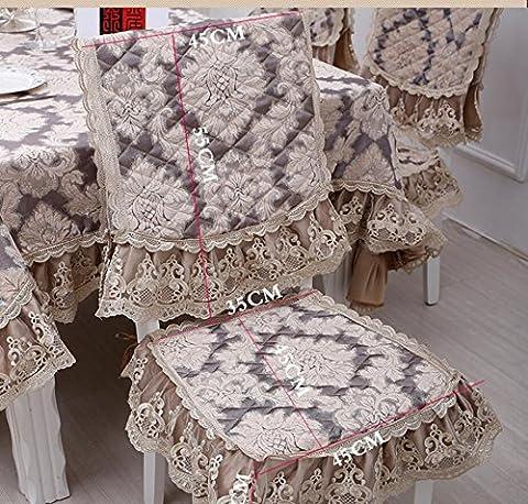 Klassische Stil Jacquard Quilted Chenille und Baumwolle Spitze Tischdecke Stoff Tischdecke Tischdecke Teapoy Tisch und Stuhl Set , Pad Rückenlehne Anzüge