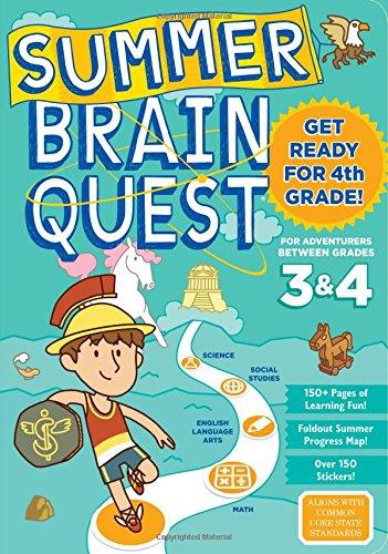Summer Brain Quest For Adventurers Between Grades 3 & 4 di Persephone Walker,Claire Piddock,Edison Yan