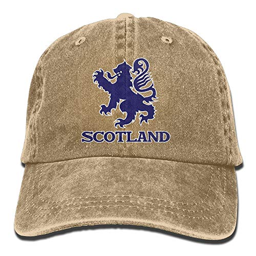 Rghkjlp Scottish Flag Lion Vintage Washed Gefärbte Baumwoll-Twill-Verstellbare Baseballkappe mit niedrigem Profil Multicolor54
