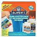 Elmer's - Kit iniciación slime con pegamento , pegamento transparente, barras pegamento con purpurina y solución activadora líquido mágico para slime, 8unidades de Nwl Switzerland Sarl