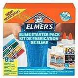 Elmer's Kit de base pour slime, colle transparente PVA, stylos colle pailletée & activateur magique pour slime en solution liquide, lot de 8produits