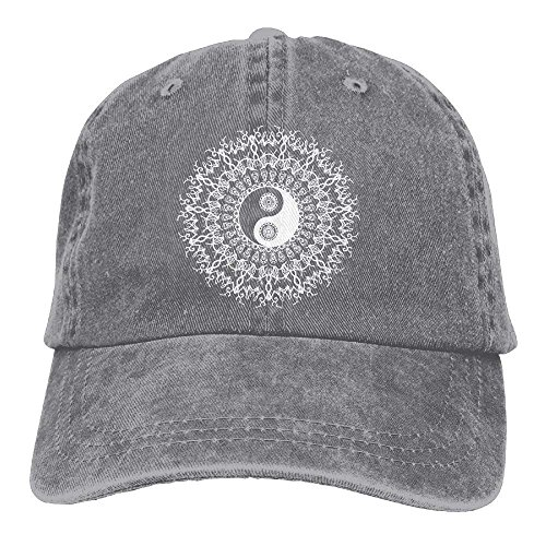 4d06a793b52 Aoliaoyudonggha Unisex Yin and Yang in Mandala-1 Vintage Jeans Baseball Cap  Classic Cotton Dad