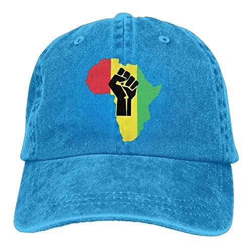 Hoswee Unisex Kappe/Baseballkappe, African Roots Black Power Piece.PNG Adult Adjustable Jeans Dad Cap