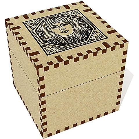 Moyen (57mm) 'Motif carré Égyptien' boîte de bijoux