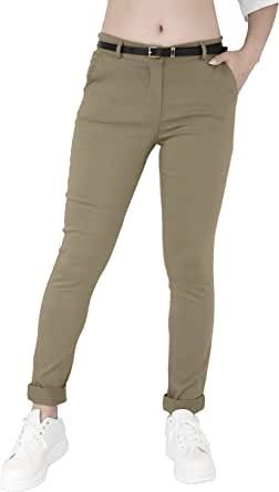 JOPHY & CO. Pantalone Donna Chino con Cintura (cod. 3008)