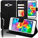 VCOMP Etui-Schutzhülle für Samsung Galaxy Grand Prime SM-G530F/ (4G) Edition SM-G531F / Duos TV SM-G530BT, PU-Leder, S