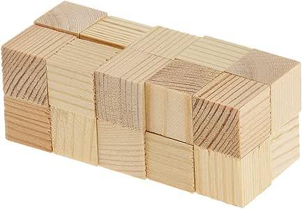Bemalbar Holz Basteln Holzwürfel Blöcke Puzzle Holz Würfel Unvollendete