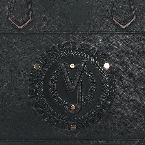 Versace Jeans Borsa Donna q Dis.5 Saffiano Embossed Nero