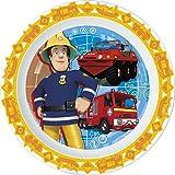 Unbranded 8018199Sam Feuerwehrmann Flacher Teller Kunststoff Orange 22,5x 22,2x 2cm