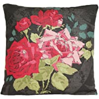 Red rose cuscino rose decorative Pillow throw case Nina Campbell paradiso tessuto rosa alba lino nero