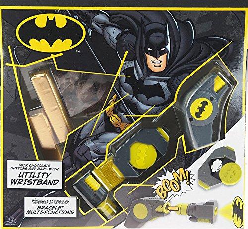 Preisvergleich Produktbild Batman DC Milchschokolade Ostergeschenk Set mit Utility Armband Spielzeug - mit Projektor!