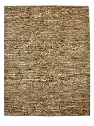 Pak Persian Rugs Handgeknüpfter Gabbeh Teppich, Dark Champagner/Sand, Wolle, Medium, 198 X 246 cm -