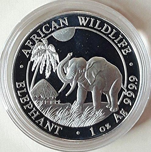 Somalia Elefant 2017 1 Unze Silber Münze Silbermünze 1 oz silber in Münzkapsel Silber Münzen 1 Oz