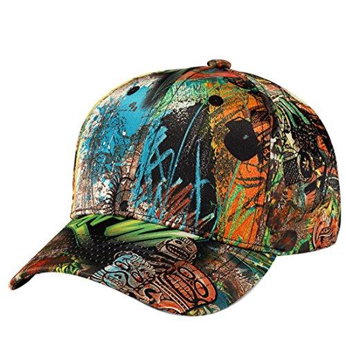 Belsen Damen Hip-Hop Cap Baseball Kappe Trucker Hat (Graffiti gelbe Augen) Graffiti-trucker Hut