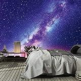 murimage Papier Peint Univers 366 x 254 cm Photo Mural Galaxie Galaxy Étoiles Ciel nocturne Nuit Jeunesse Cuisine wallpaper colle inclus ...