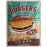 Nostalgic-Art 23119 USA - Burgers, Blechschild 30x40 cm