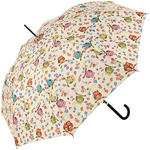 Signare Rétractable poignée Parapluie bâton dans la conception Chouette