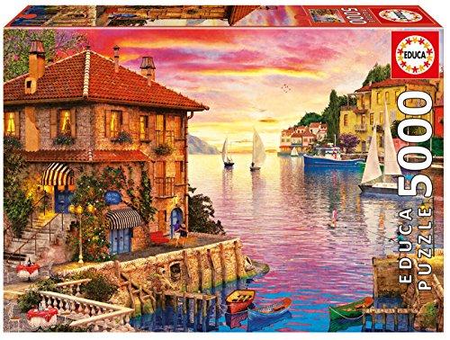 Educa Borrás - 17135.0 - Puzzle - Port de Méditerranée - Dominic Davison - 5000 Pièces