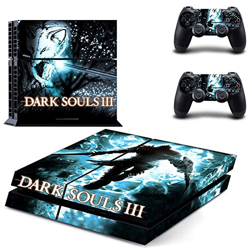 Generic 3 Skin Stickers For PS4 Game Console 2 Pcs Vinyl Decal Skin Stickers For PS4 Controller Controle Gamepad