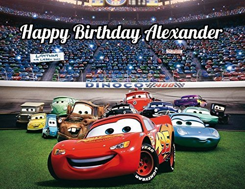 Pixar Cars Edible Image Photo Cake Topper Sheet Personalized Custom Customized Birthday Party - 1/4 Sheet - 78868 by Sweet Custom Cakes