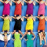 SSITG Bandeau Damen Bademode Sommer Kleid Rock Strandkleid Strandrock Sommerkleid Womens Bikini Cover Up Wrap Swimwear B