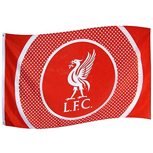 Liverpool Bulls Eye Flagge, Mehrfarbig -