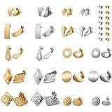 Cheriswely, 40 orecchini a perno in acciaio inox con farfalline di sicurezza per la creazione di gioielli di bigiotteria
