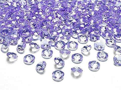 Kristalle Lila Diamanten Streuteile Dekosteine Tisch Deko Hochzeit 100 STÜCK Ø12mm (Lila)