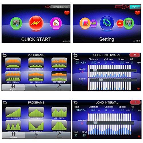 AsVIVA C22 Crosstrainer Ergometer Cardio mit Generator System (inkl. Multifunktionscomputer mit 12 Automatikprogrammen, Pulsmessung und Tablet und Smartphone Halterung , günstig vom Testsieger) - 4