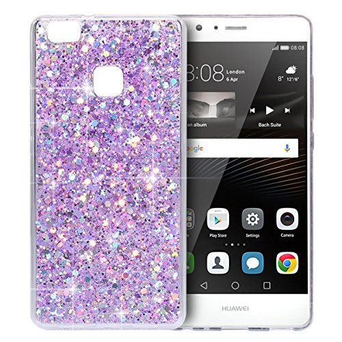 custodia-per-cellulare-per-Huawei-P9-lite-Ysimee-Brilla-Bling-Custodia-morbido-trasparente-scintillante-in-TPU-Custodia-protettiva-antipioggia-sottile-in-silicone-antiurto-per-Huawei-P9-lite