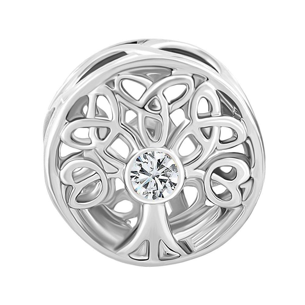 Korliya Family Tree of Life Charm Bead for Bracelet