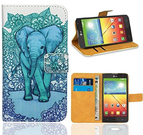 L70 Lg Für Handy Optimus Case (LG Optimus L70 / LG L70 Handy Tasche, FoneExpert Wallet Case Flip Cover Hüllen Etui Ledertasche Lederhülle Premium Schutzhülle für LG Optimus L70 / LG L70)