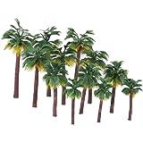 NUOLUX Layout regnskog plast palmträd diorama landskap 12 st