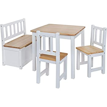 babyday ensemble table et chaises pour enfants 1 table 2 chaises 1 banc coffre kit complet. Black Bedroom Furniture Sets. Home Design Ideas
