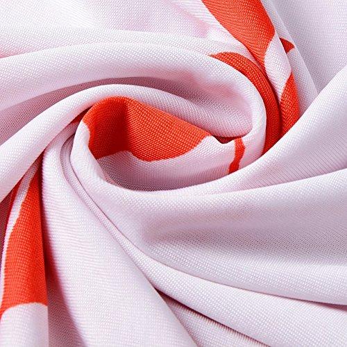 katuo femmes robe à manches Cap pour femme à motif floral mélange de coton Tee Tops White Orange Rose B-04