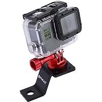Puluz accessoires Support fixe de vélo en métal pour GoPro Hero 5, 4, Session, noir/argent