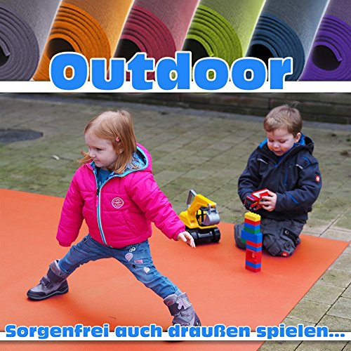 "Preisvergleich Produktbild Outdoor Krabbelmatte Krabbelunterlage SanoSoft ""made in Germany"" - Öko-Tex 100 120x120 cm Lila"