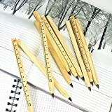 Kugelschreiber Schreibwaren 10 stück aus Holz kreativ Schwarze Tinte Ballpoint pen funktionen komfort Stift Umweltfreundlich natur schreiben und Messung schwarz schreibend für Büro Office Student