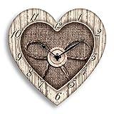 Lupia Orologio da Parete Heart Shabby 30x30 cm White