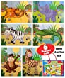 Jungle Animal Puzzle- 6PUZZLES INCLUDED- Great christmas present gift stocking filler birthday bag filler