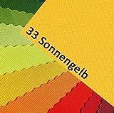 NOVELY Oxford 600D Farbe 33| Gelb Sonnengelb Polyester