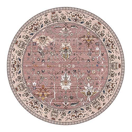 ZCXBB Europäischer amerikanischer Land-Wohnzimmer-ethnischer Art-moderner Retro- Teppich-Schlafzimmer-Nachttisch-runder Teppich (Color : Silver, Size : XXL) -