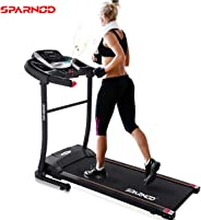 Sparnod Fitness STH-1200 (3 HP Peak) Automatic Treadmill (Free Installation Assistance) - Foldable Motorized Treadmill for H