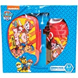 Paw Patrol Children School Combo Box For Kids Of Age 3 Years Onwards | Includes 1 Lunch Box & 1 Water Bottle | BPA Free | Attractive Print | Bright And Colourful | Certified Safe As Per European Safety Standards (EN71) | Imported Premium Quality | Red