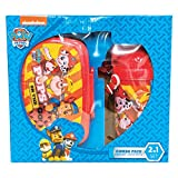 #2: Paw Patrol Children School Combo Box for Kids of Age 3 Years Onwards | Includes 1 Lunch Box & 1 Water Bottle | BPA Free | Attractive Print | Bright and Colourful | Certified Safe as per European Safety Standards (EN71) | Imported Premium Quality | Red Colour