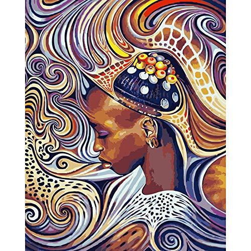 Kein Rahmen afrikanische Frau Figur ölgemälde Moderne wandkunst ölgemälde ww 40x60cm