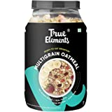 True Elements Multigrain Oatmeal 1 kg - Cereal Food, Oatmeal for Breakfast, Power of Multigrain Oats