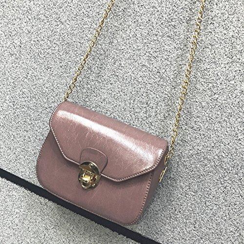 Kette Kleine Quadrat Paket Mode Weibliche Paket Öl Freizeit Messenger Schulter Schulterdiagonalpaket Fleisch Rosa